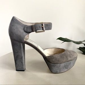MICHAEL KORS Grey Platform Mary Jane Pump